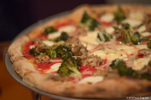 Spicy house fennel sausage pizza via Focus:Snap:Eat blog