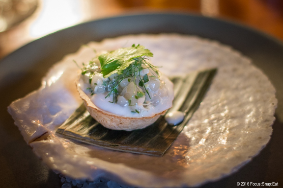 scallop in coconut cream at Langbaan via Focus:Snap:Eat blog
