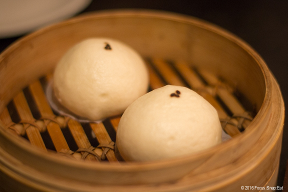 Black sesame buns for dessert ($2.50 each)