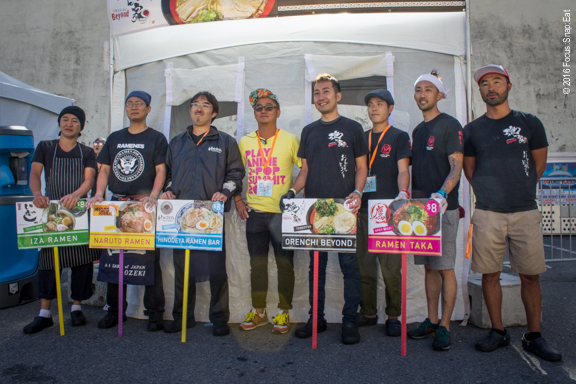 Participating ramen chefs and owners at this year's J-Pop Ramen Summit.