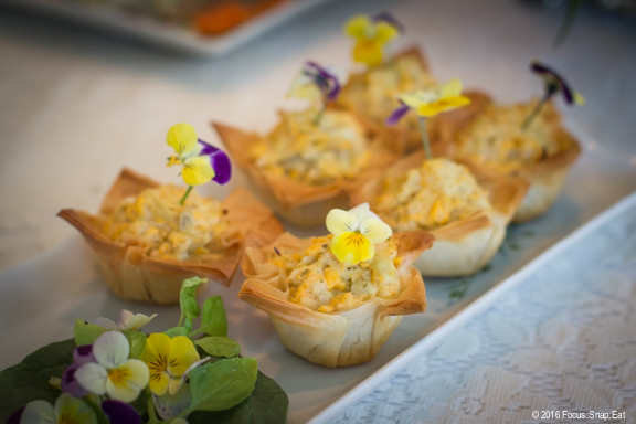 My favorite bite were these artichoke and cheese puffs made with phyllo dough.