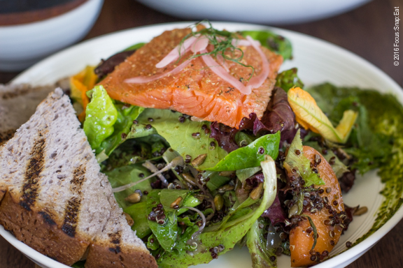 Smoked spring trout at Aina via Focus:Snap:Eat blog