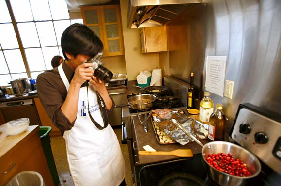 A year into blogging, I was selected by the San Francisco Chronicle as a team member for their annual Thanksgiving turkey cookoff. (Photo courtesy of Craig Lee, the Chronicle)