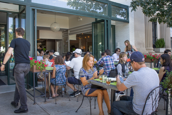 Enjoying the Chicago summer weather with outdoor seating at Jam.
