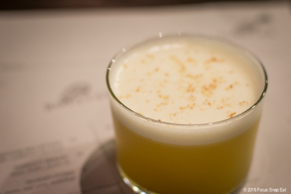 A Sour in the Key of Raffi cocktail ($13)