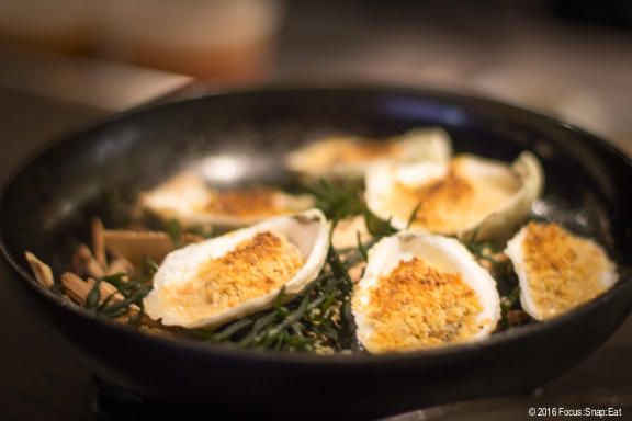 smoked oysters at Roister via Focus:Snap:Eat