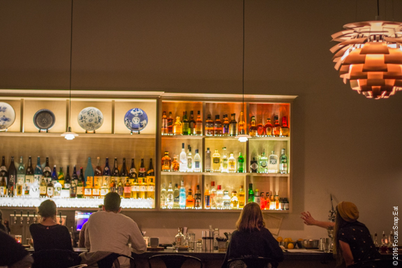 The large colorful bar at the one-month-old Afuri.