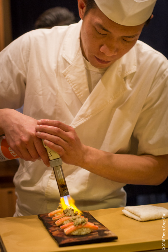 Chef owner Billy Kong torching a nigiri. Several items got the torch for some smokey flavor.
