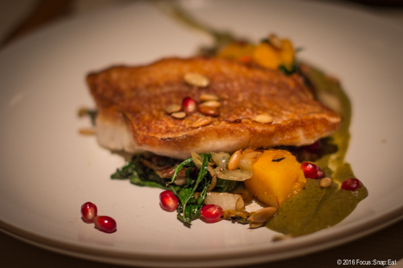 Rock cod with pumpkin and chicories ($26)