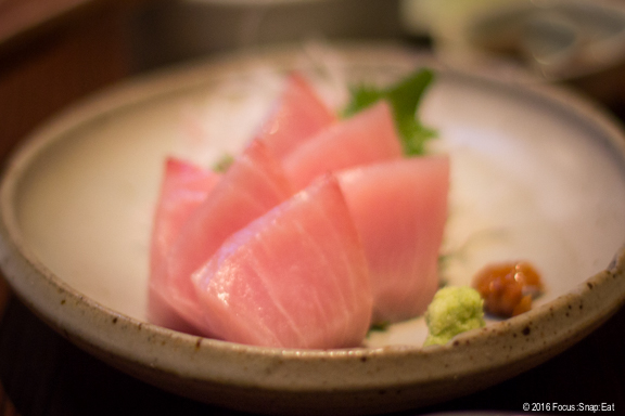 Kajiki no sashimi ($18) or longline California swordfish.