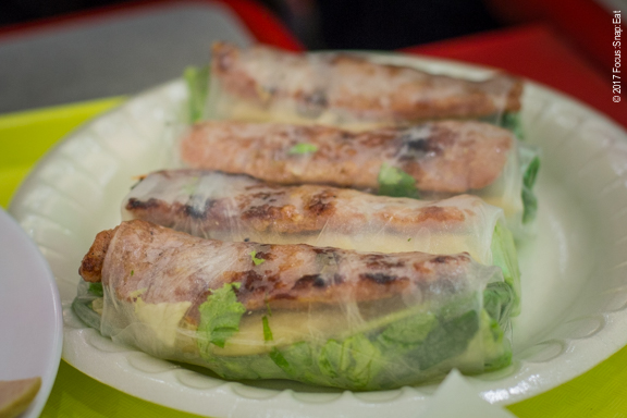Nem nuong cuon or grilled pork spring rolls