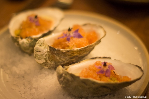 Shigoku oysters at Nomica via Focus:Snap:Eat blog