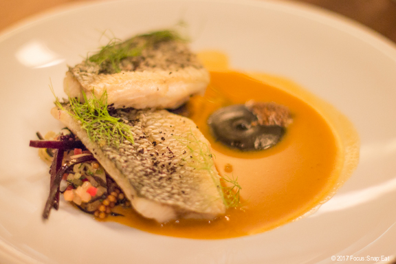 seared seabass at Nomica via Focus:Snap:Eat blog
