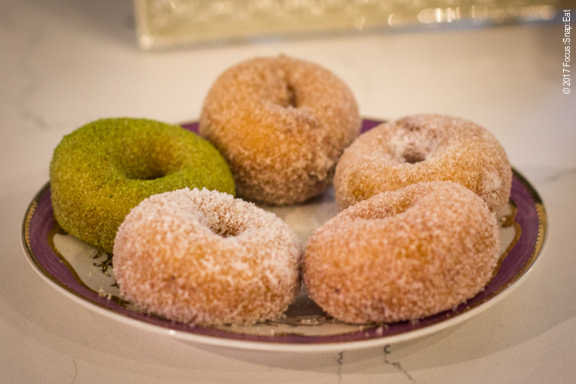 Mini donuts available in five flavors and can be topped on a soft-serve cup.