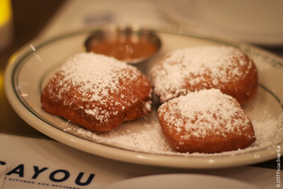 Beignets at Bayou via Focus:Snap:Eat blog