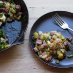 Brunching on Pastrami Hash with Roasted Broccolini Recipe