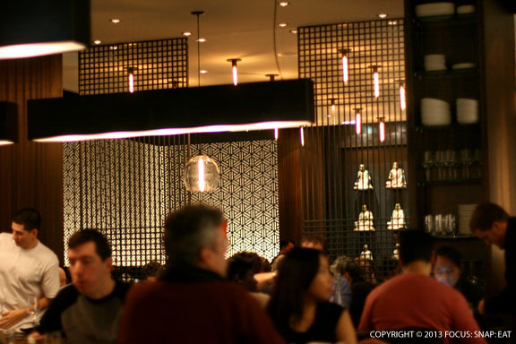 M.Y. China's dining room is a glitzy mix of Asian chic with contemporary touches