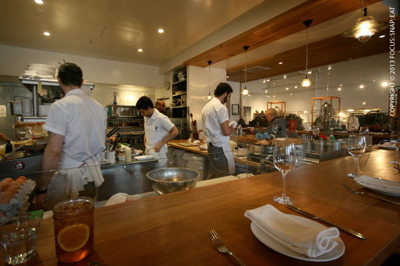 The large open kitchen