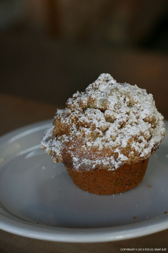 Poppy seed muffin made by Piccino