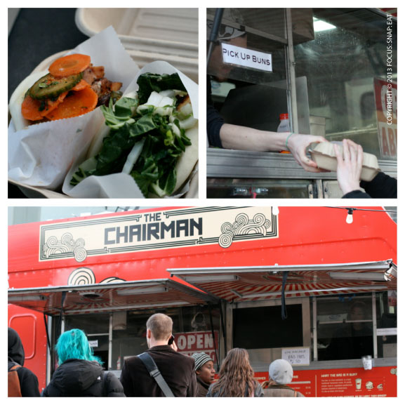 I always make a stop at The Chairman food truck, especially when there's no crazy lines. I tried the spicy chicken bun with pickled carrots and tasty miso crispy tofu bun.