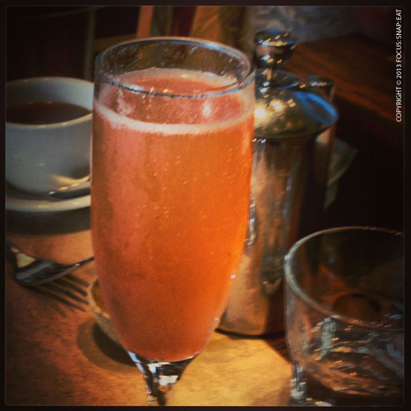 Prosecco with blood orange juice is a nice brunch alternative to the mimosa