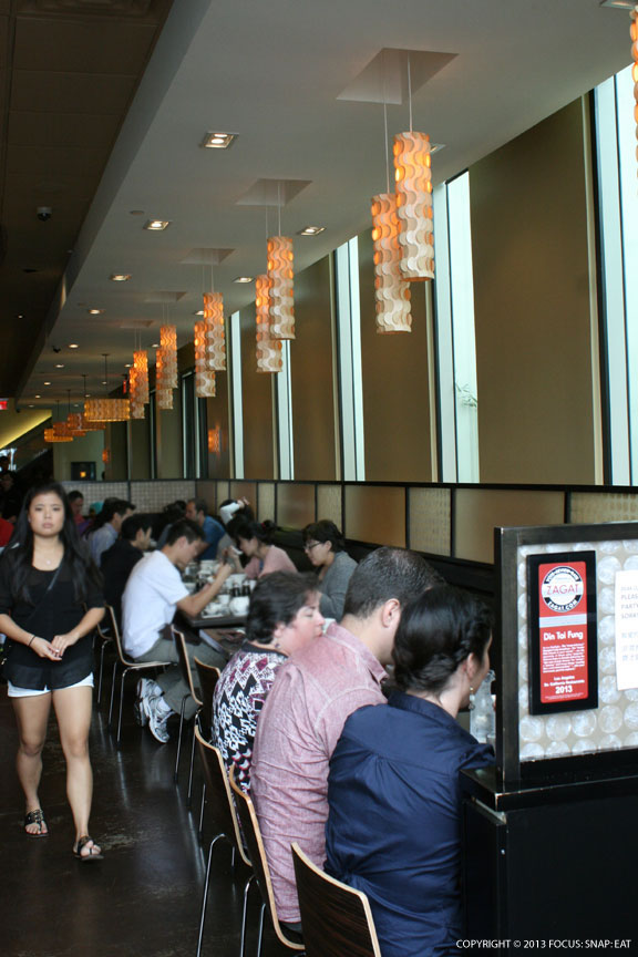 The interiors of Din Tai Fung had a contemporary feel, and is always crowded