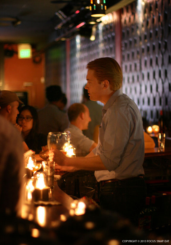Eric Quilty of Adesso manned the bar at Bruno's to create Cynar-inspired cocktails