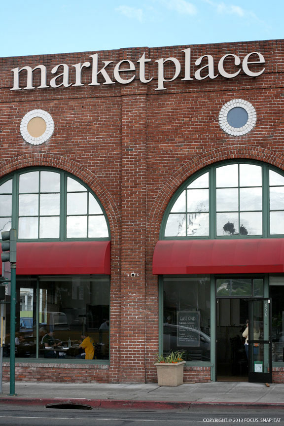 The Marketplace has an impressive exterior but inside it's just a handful of boutique food vendors and grocery store