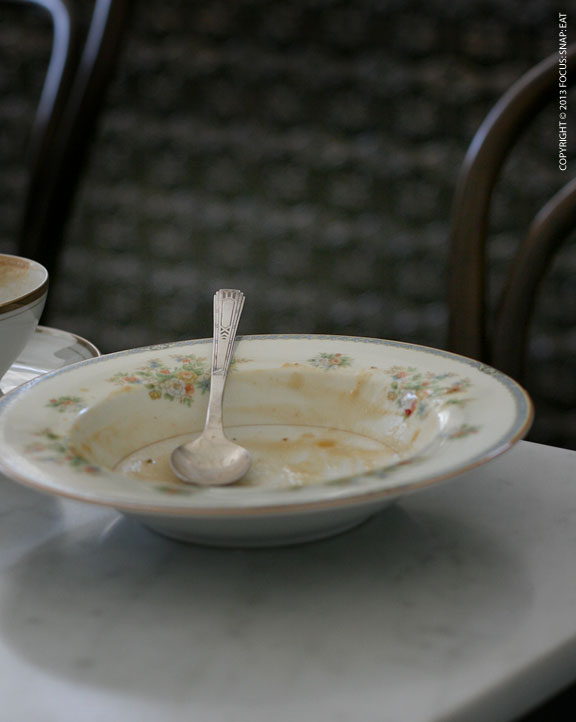 The charm comes in the dinnerware, which really reflected the old European style.