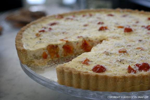 This came out later, and looked really lovely. I think it's a quiche.
