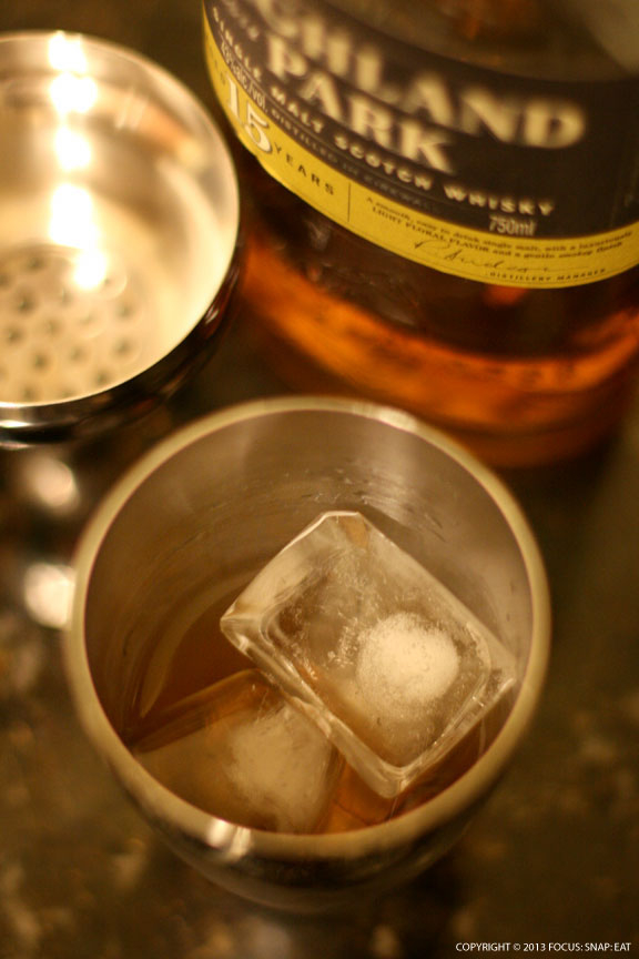 Mixing up my special whisky cocktail