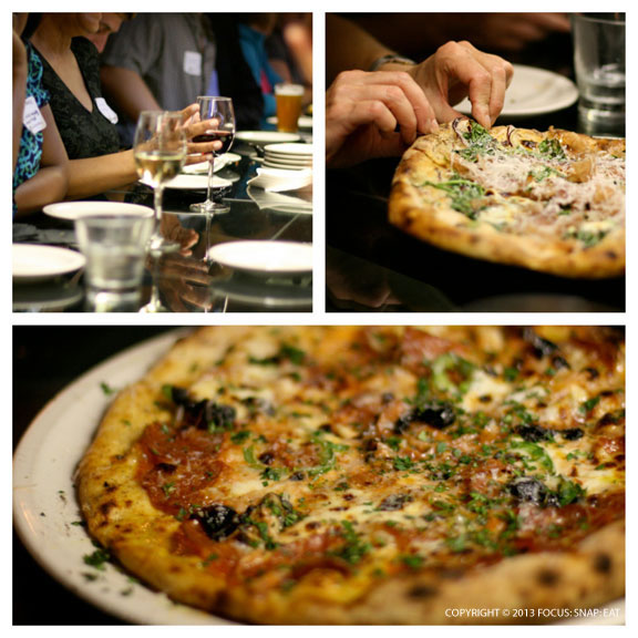 At Forge, we got to try at least four different types of pizzas