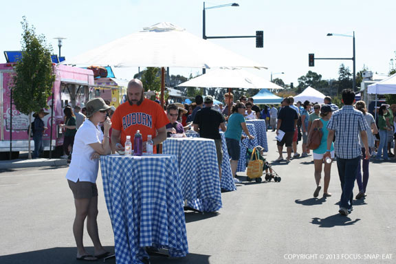 The Beta Tasting took place out on a closed street of the planned community Bay Meadows in San Mateo.