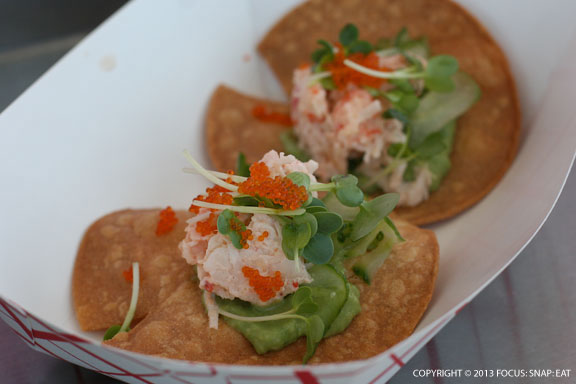 Lobster tacos from We2Sushi was presented like a restaurant dish.