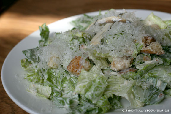 Caesar Salad with marinated anchovies ($5 for half portion)