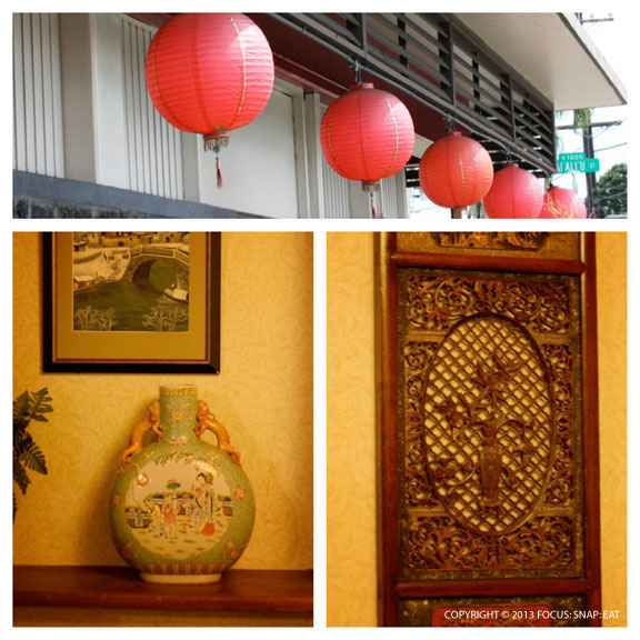 The decor at Kirin restaurant is like an Imperial palace.
