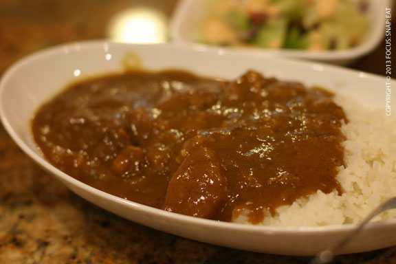 Mini order of Japanese curry (with a side salad) for $5