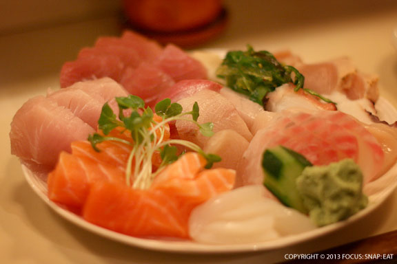 The sashimi platter for two ($48.50) was a ton of fresh fish and is a must-order at Tekka.