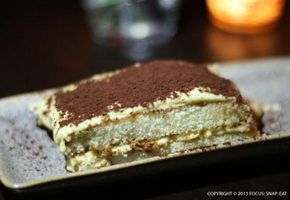 One of my favorite desserts, tiramisu, $7, hit all the right notes