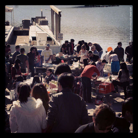 Tables by the water get filled first, but this weekend it wasn't a crazy scene as I heard it could be.