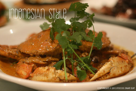 This simple curry crab reflected Indonesian flavors and was among my favorite.