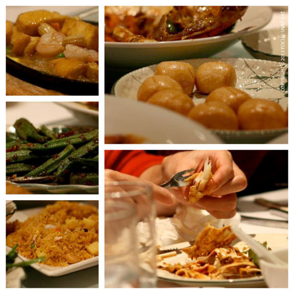 We feasted on other dishes to round out the crab dinner, including pineapple rice, steamed buns and sizzling tofu.