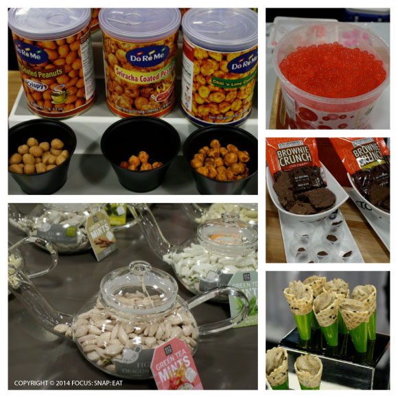 A lot of snack foods were on display at the Winter Fancy Food Show at the Moscone Center.