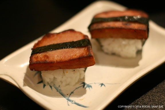Spam musubi ($2) were cute bite-sized rice balls with just the right char.