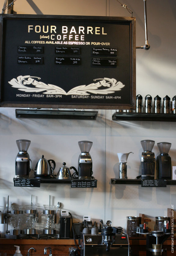 Cool display of coffee and more
