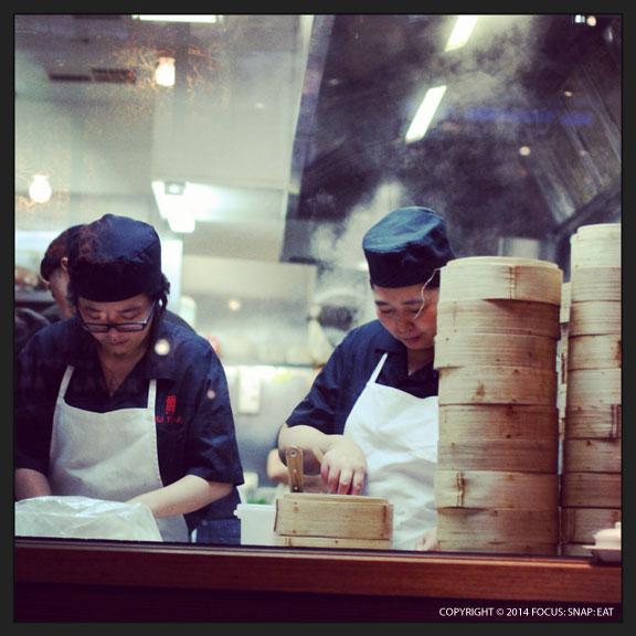 Busy wrapping up dumplings