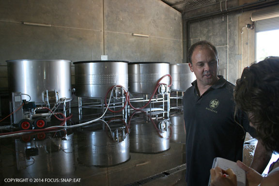 Mandoon wine maker Ryan Sudano talks about the wine making process
