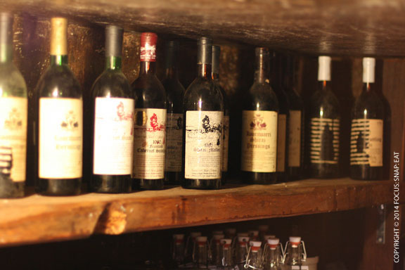 Jane Brook Estate had a cool vintage wine cellar museum