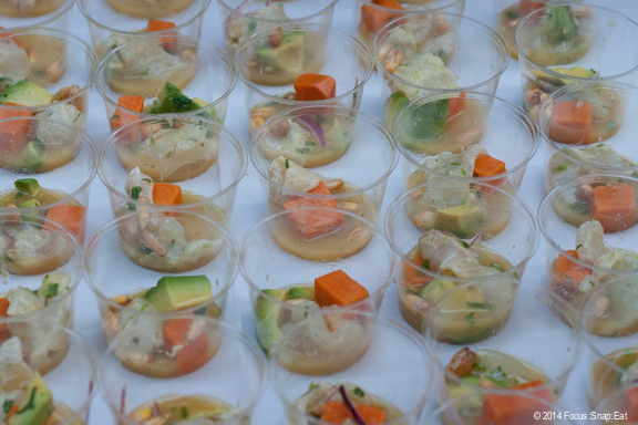 Bright halibut ceviche from Lolinda