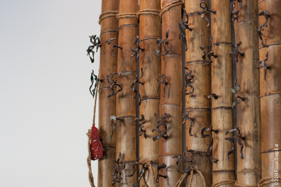 Bamboo art on the walls